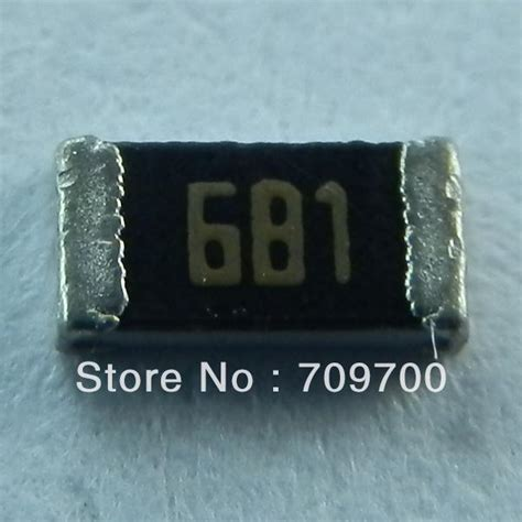 precision chip resistor 5 precision 1206 surface mount chip resistor 680 rohm values 1000pcs on electronic components