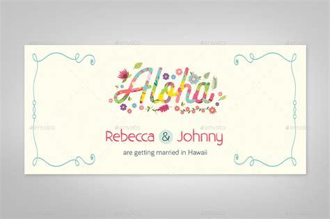 Hawaiian Shirt Card Template by Hawaiian Wedding Boarding Pass Invitation Template By