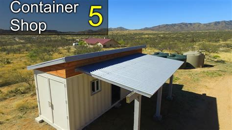 motorola container shop youtube shipping container shop part 5 roofing awning interior