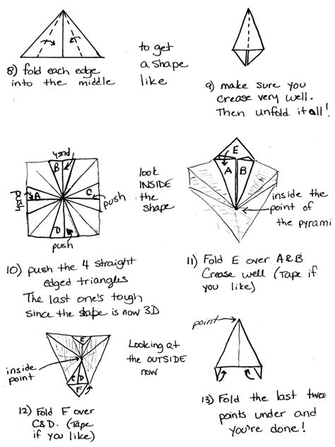 How To Make An Origami Pyramid - origami pyramid