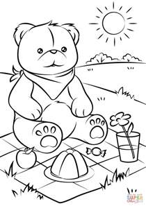 teddy bears picnic coloring free printable coloring pages