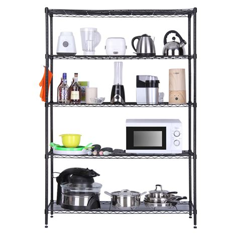 5tier shelves storage organization rack space saving heavy