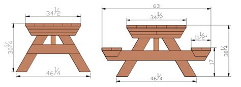 picnic bench dimensions rectangular picnic table dimensions