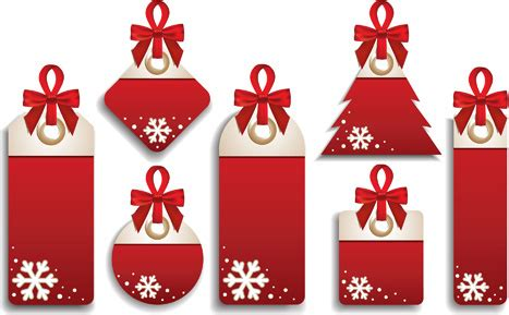 christmas gift tag elements  vector    vector  commercial  format