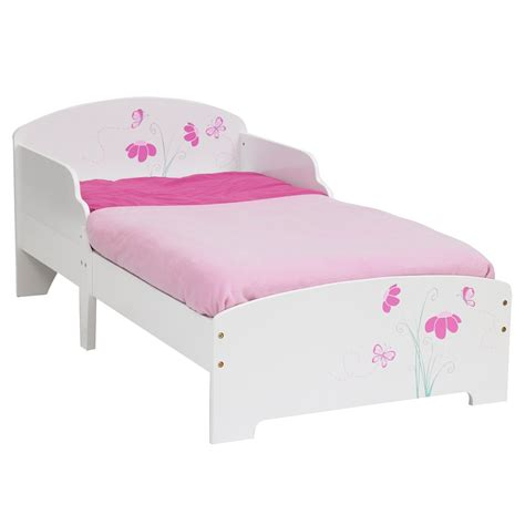 toddler bed girls girls butterflies flowers mdf toddler bed mattress ebay