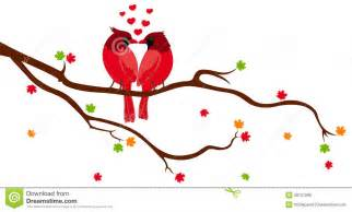 Branch Chandelier Love Birds On Tree Branch Royalty Free Stock Photo Image 28727095