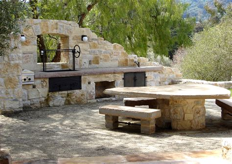 Rustic Bathroom Ideas Pictures rustic outdoor kitchen patio mediterranean with barbecue