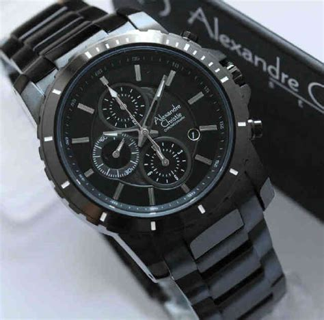 Jam Tangan Warna Hitam jam tangan alexandre christie pria kode acp21 warna hitam