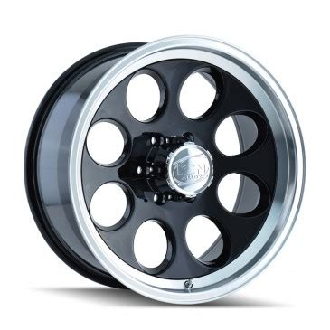 ion alloy 171 black with machined lip wheel only the