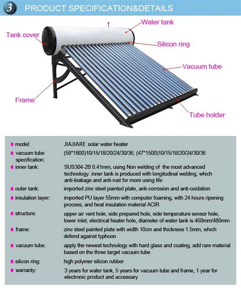 solar system price list low price quality low pressure vacuum tube20 solar water heater system buy solar water