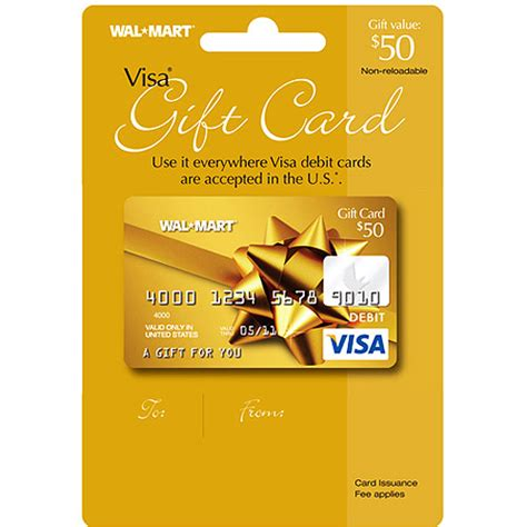 Wallmart Gift Cards - 50 walmart visa gift card service fee included gift cards unused walmart com