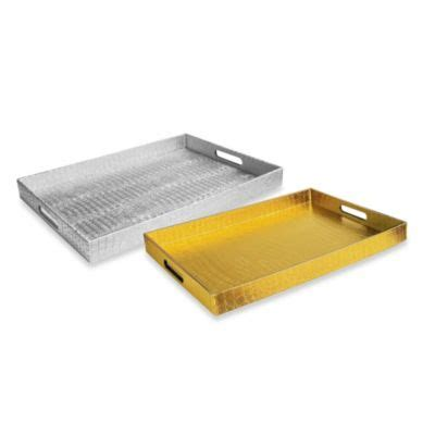 bed bath and beyond trays buy silver serving tray from bed bath beyond
