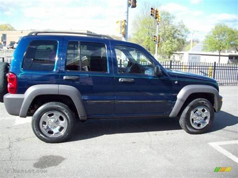 navy blue jeep liberty 2002 patriot blue pearlcoat jeep liberty sport 4x4