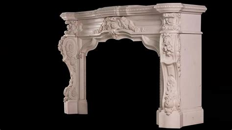 marble fireplace mantel carved white factory price luxurious carved white marble