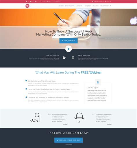 Webinar Landing Page Supreme Wp Theme Webinar Landing Page Template