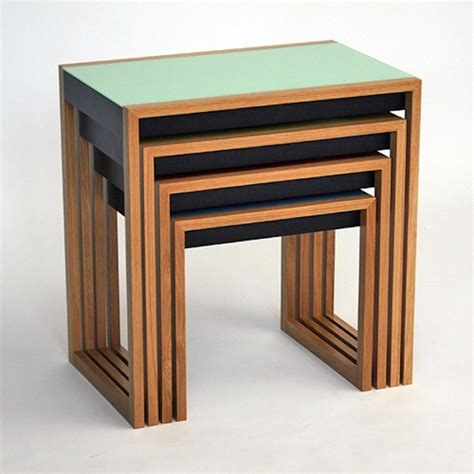 Nested Tables Modern History Bauhaus Nesting Tables Artisan Crafted