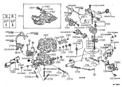 22r carburetor diagram 1987 toyota carburetor pictures to pin on