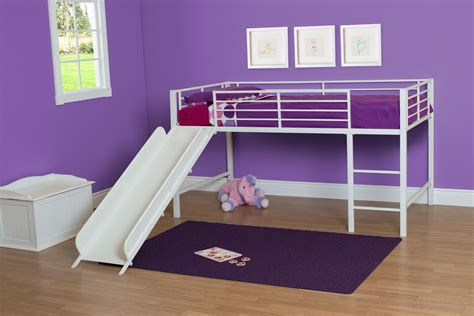 junior loft bed with slide dhp furniture junior loft with slide