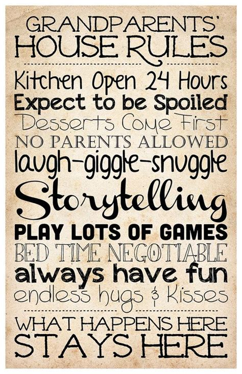 printable house rules poem 89 best images about grandchildren quotes on pinterest
