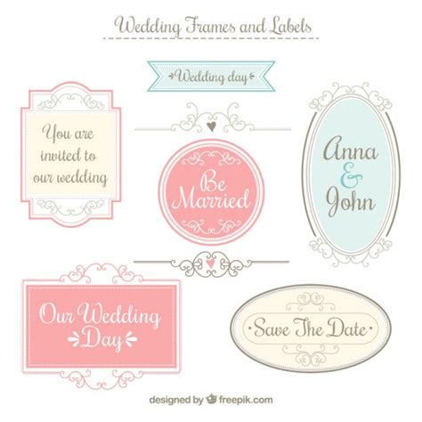 Wedding Labels by Wedding Frames And Labels Vector Premium