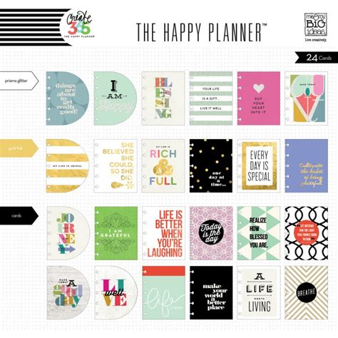 create inspirational cards template me my big ideas create 365 the happy planner inspiration