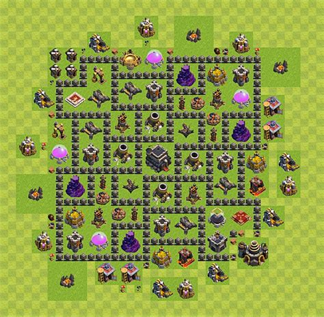 layout level 9 clash of clans clash of clans base plan layout for trophies town hall