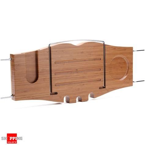 bathtub wine and book holder new bathroom bamboo bath tub caddy holder tray holds soap