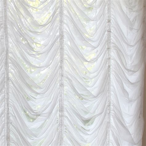 austrian curtain austrian roman balloon white tulle lace curtain shade