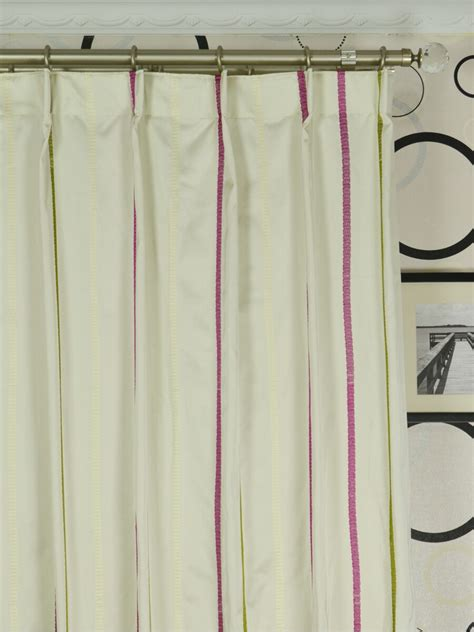 single pleat curtains baltic embroidered striped single pinch pleat curtain