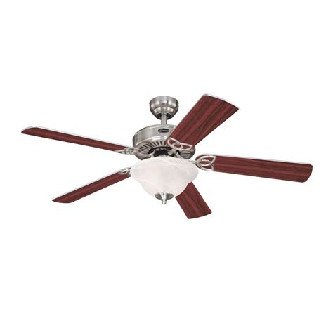 antique nickel ceiling fan westinghouse vintage ii 52 in brushed nickel indoor