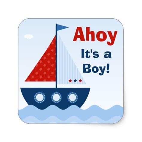 Ahoy It S A Boy Ahoy Its A Boy Baby Shower Sticker Zazzle