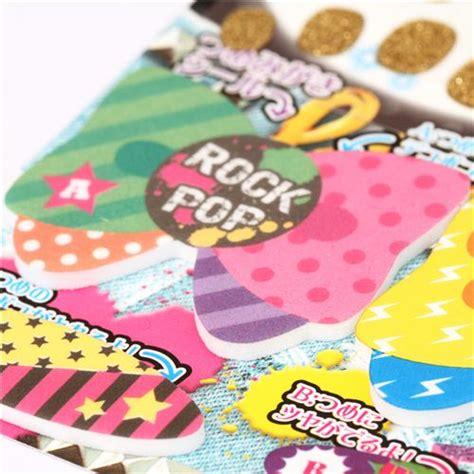 Nail Sticker Import 2 flash rock fingernail glitter stickers from japan