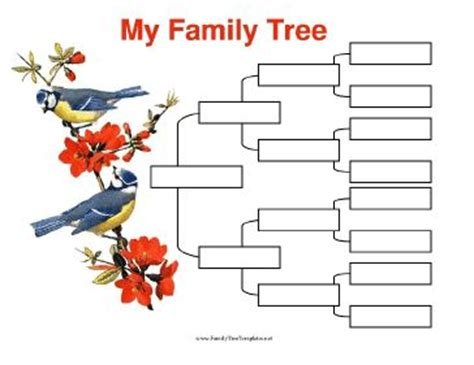 one sided family tree template 100 family tree printable templates the adventurous