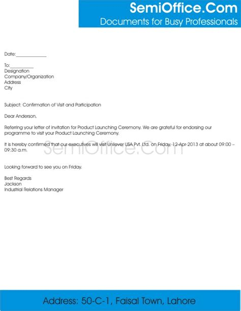 Cancellation Participation Letter Acceptance Of Invitation Letter Sle Format
