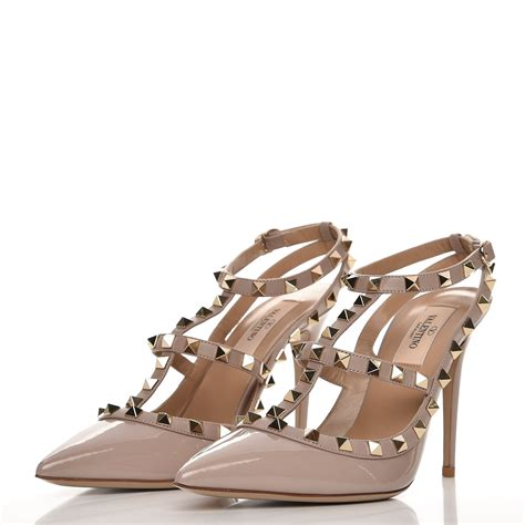 Kaos Valentino Shoes Bw valentino patent rockstud ankle pumps 38 5 poudre 231531