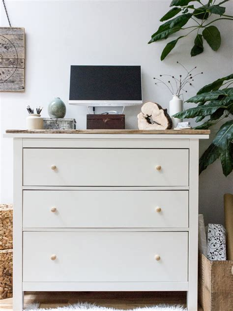 dresser with desk diy standing desk with ikea hemnes dresser refreshed designs