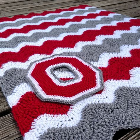 ohio state rugs ohio state baby blanket sets crochet rugs by scarletngreycrochet