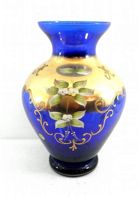 decorative glass vases large glass vase made by murano