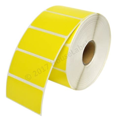 yellow rolls self adhesive labels for all printers houselabels com