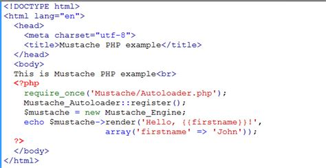 tutorial php basic tutorial on getting started with mustache template in php