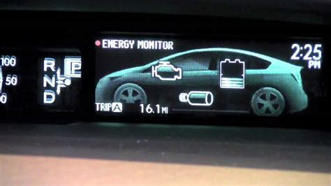 Toyota Meter 2012 Toyota Prius Odometer And Trip Meter How To