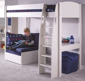 wooden high sleeper with futon highsleepers with chair beds from rainbow wood