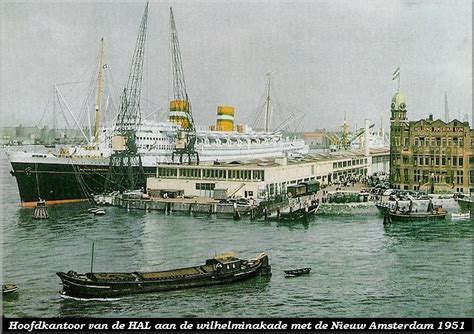 schip holland amerika lijn in rotterdam schepen van de holland amerika lijn