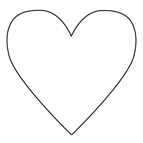 coloring page of a heart 35 good heart template for cutouts for heart animals