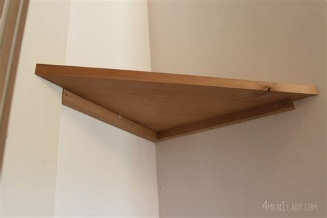 How To Make Wood Shelf by When Gives You Lemons Make Corner Floating Shelves