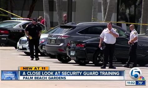 Security Officer License by Armed Security Officer Shoots Warning Palm Fl