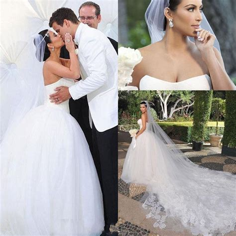 2016 Bridal Veils Kim Kardashian New Best Sale Charming