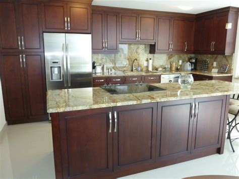 best finish for kitchen cabinets pictures gallery 1 gel contemporary kitchen cabinetry cherry brown stain finish