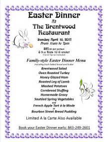 easter menu 17 the brentwood restaurant wine bistro