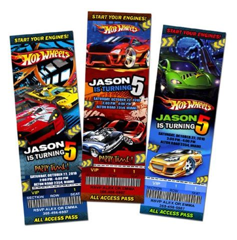 Home Designs Unlimited Reviews Wheels Birthday Invitations Party Ticket Upadesigns